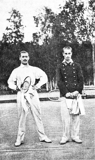 Аленицын и Сумароков на Олимпиаде 1912 года.