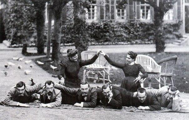 Николай II с друзьями.