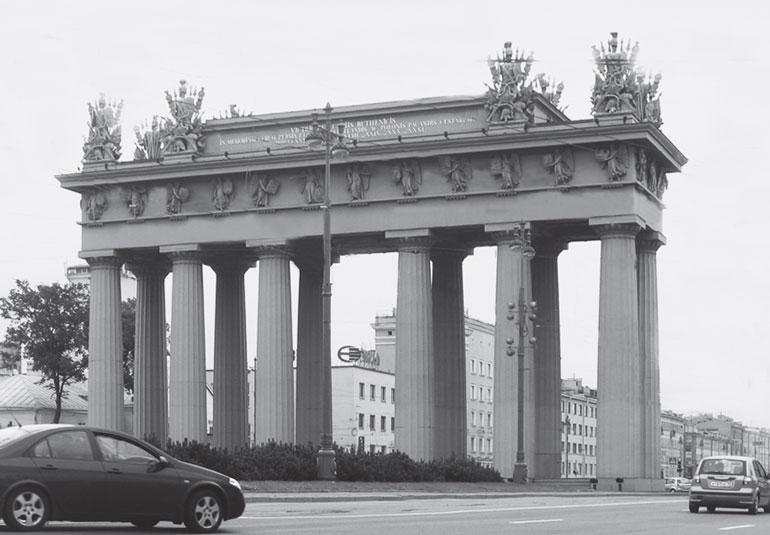 Московские триумфальные ворота.