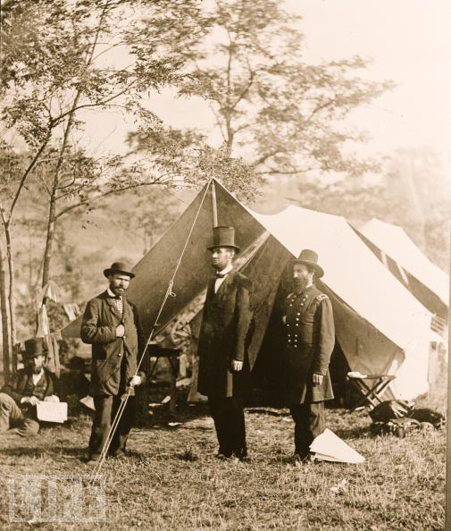 Линкольн в Антиетаме в 1862 году.