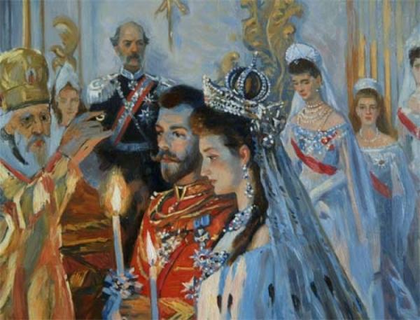 Венчание Романовых.