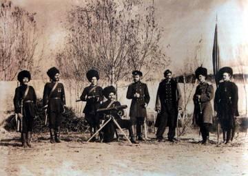 Ракетный взвод Семиреченского казачьего войска. 1891.