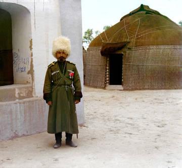 Семиреченский казак (уникальное цветное фото Прокудина-Горского)
