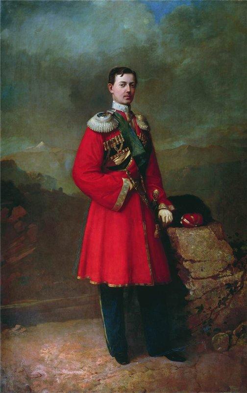 Портрет великого князя наследника цесаревича Николая Александровича