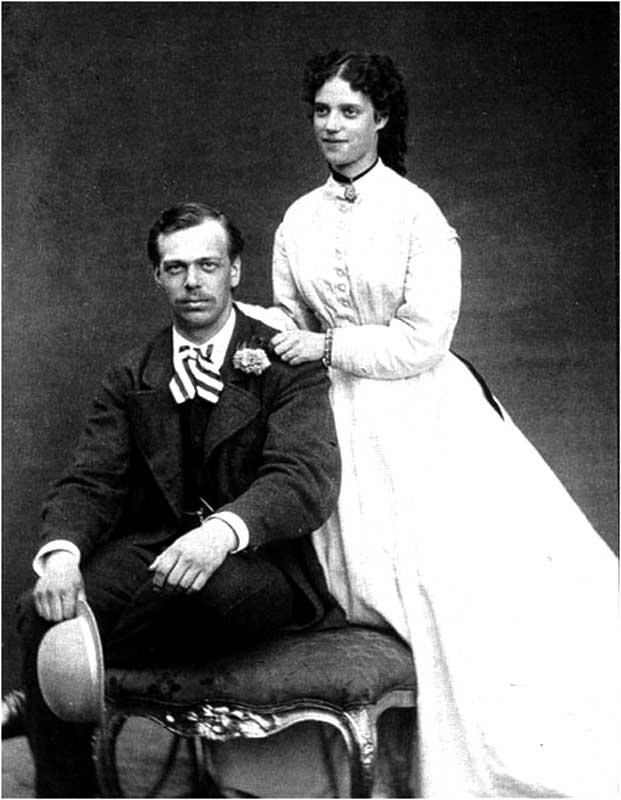 Александр фон Гольштейн с невестой Дагмарой
