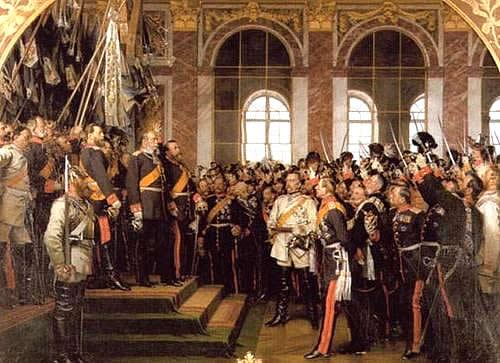 Провозглашение Германской империи в Версале.