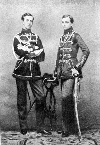 Братья Гольштейн: Никса и Александр, 1865 год.