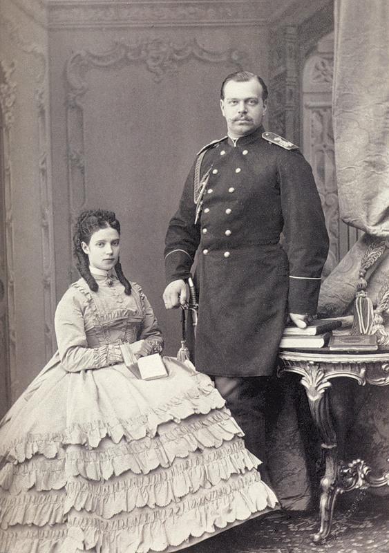 Александр I фон Гольштейн со своей женой Дагмарой