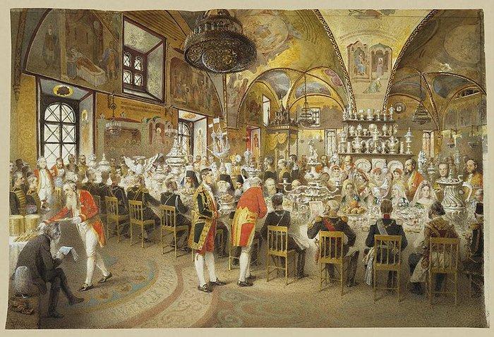 Торжественный обед в Грановитой палате