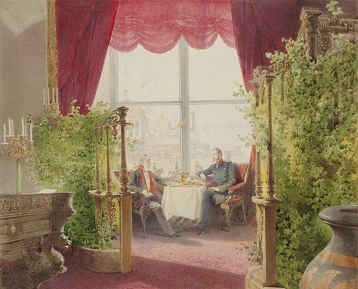 Завтрак прусского военного оккупант-коменданта