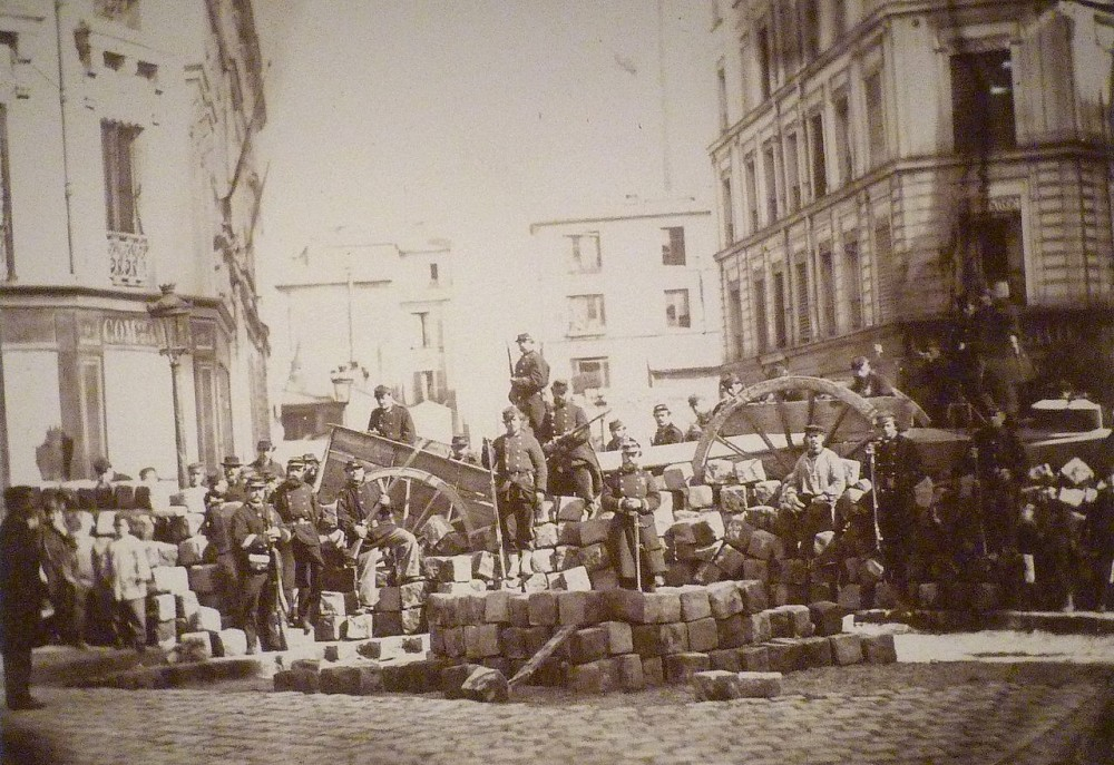 Баррикады в Париже. 1870 г.