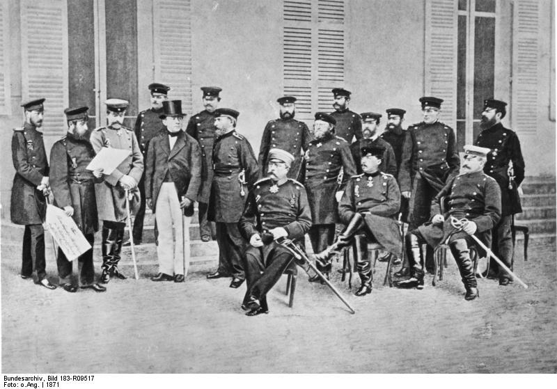 Бисмарк и его штаб в Версале 1871 г.