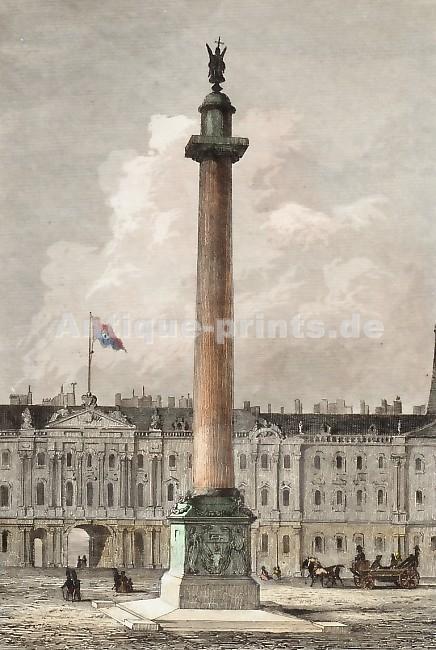 Александровская колонна, Петербург. Флаг на Зимнем дворце – французский!