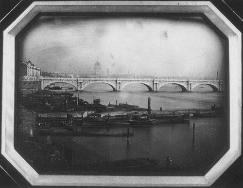 Мост и лодки на Темзе. 1851 год.