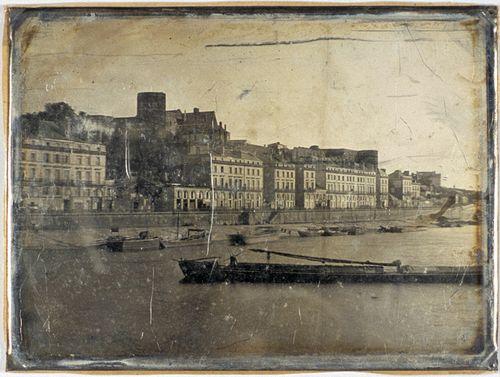 Франция, вид на набережную и гавань Анже, 1848-1855 гг.