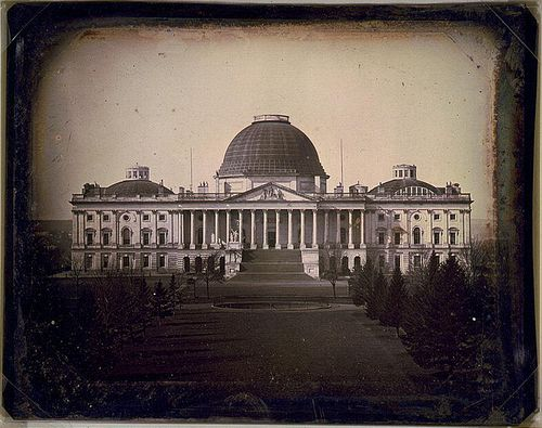 Капитолий, Вашингтон, 1846 год.