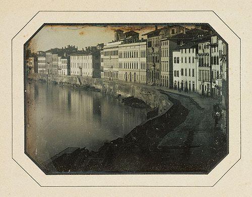 Пиза, вдоль реки Арно. 1844 год.