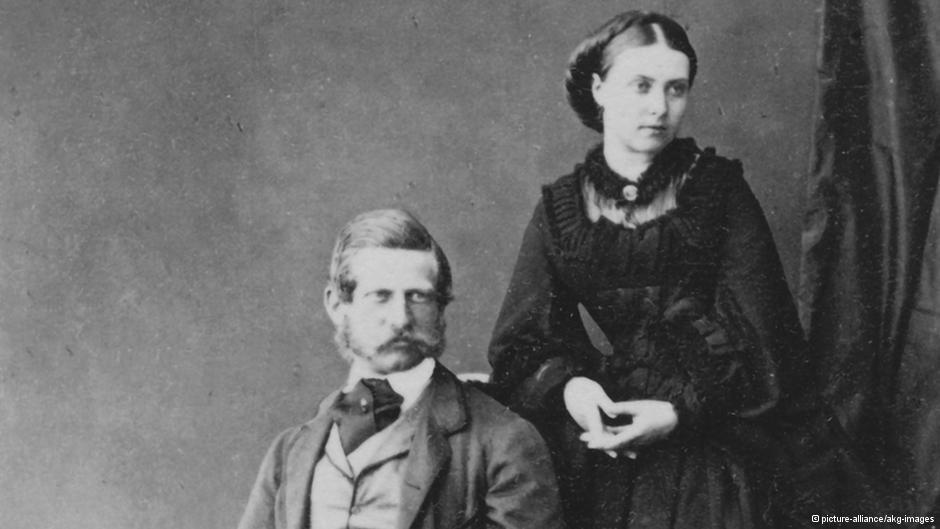 Фридрих Гогенцоллерн с женой Викторией.