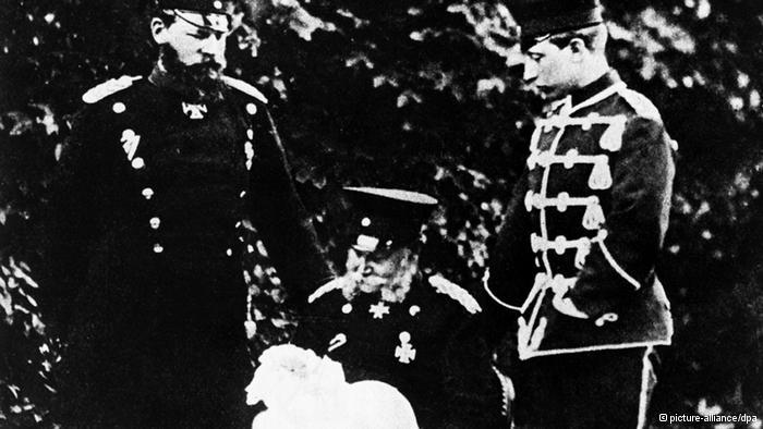 Четыре Гогенцоллерна: Вильгельм I, Фридрих III, Вильгельм II и его сын, внук Виктории Гановер-Саксен-Кобург-Готской.