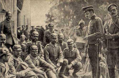 «Российская» армия из немецких оккупантов в 1916 году.