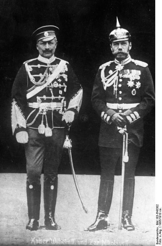 Немцы в России. Bundesarchiv_Bild_183-R43302,_Kaiser_Wilhelm_II__und_Zar_Nikolaus_II_