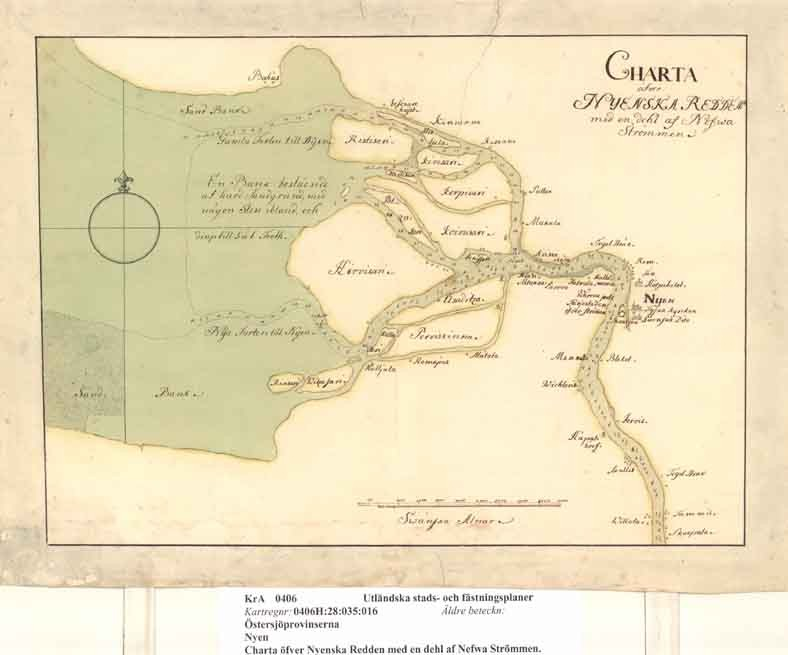 Карта Петербурга (Ксикрика) при живых Конде
