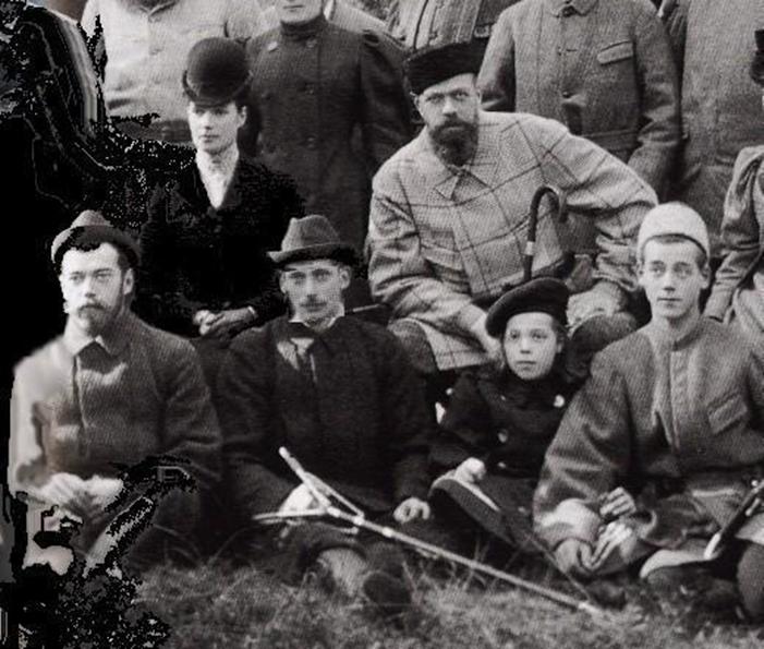 В Беловеже. Семья прусского барона фон Гольштейн.