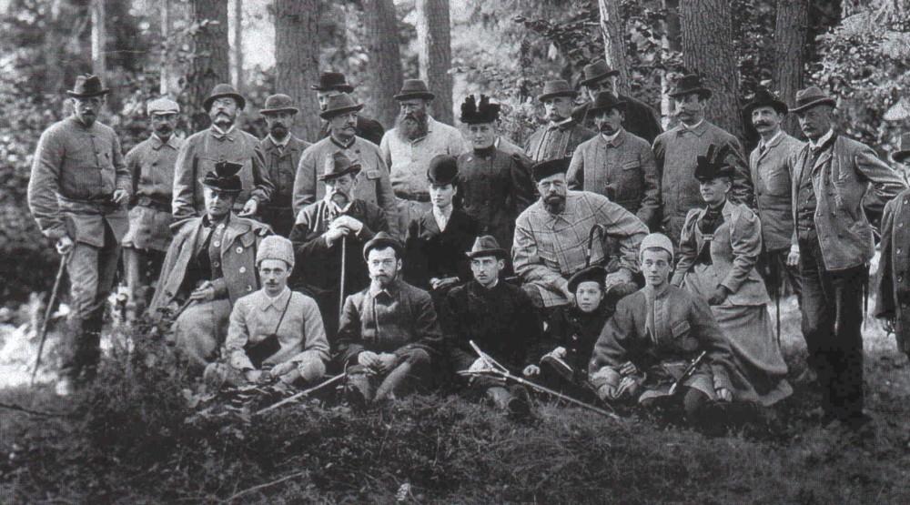 Прусский барон фон Гольштейн с семьей.
