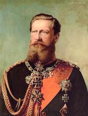 Андреевский кавалер - король Пруссии и император Германии Фридрих III Вильгельм Николай Карл