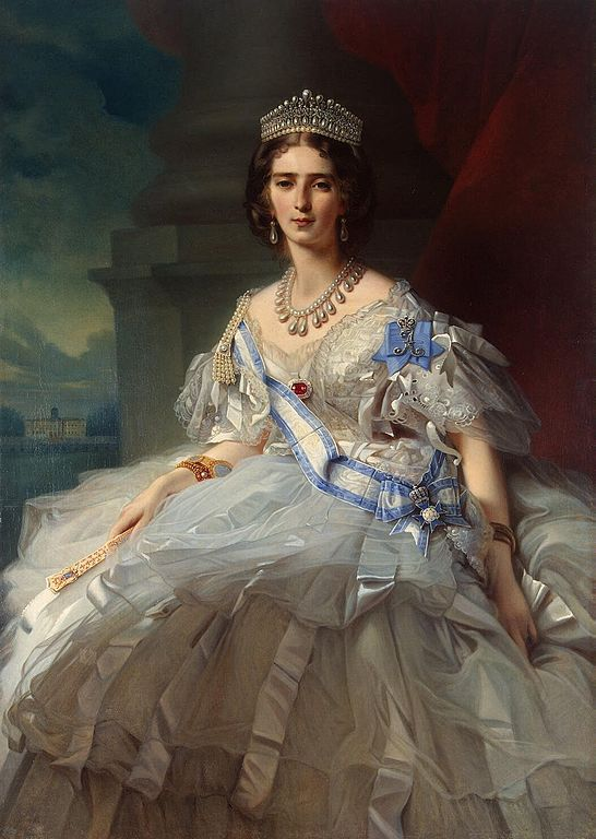 Принцесса Татьяна Александровна Юсупова-Рибопьер. Худ. В.К. Винтерхалтер, 1858 год.