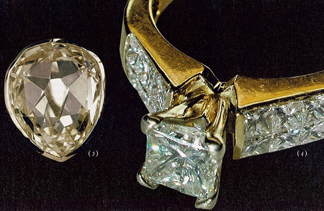 № 3 Желтый каплевидный алмаз Санси. Принадлежал Марии Антуанетте.
