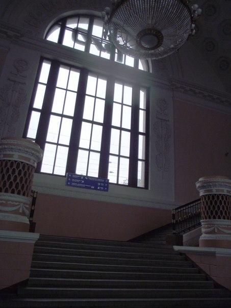 Выборг. Интерьеры внутри вокзала.