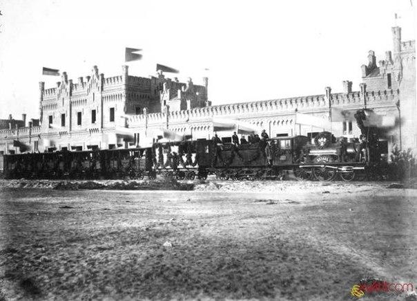Киев. ЖД вокзал. 1912 год.