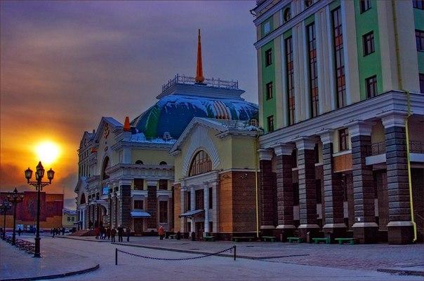 Красноярск. Вокзал.