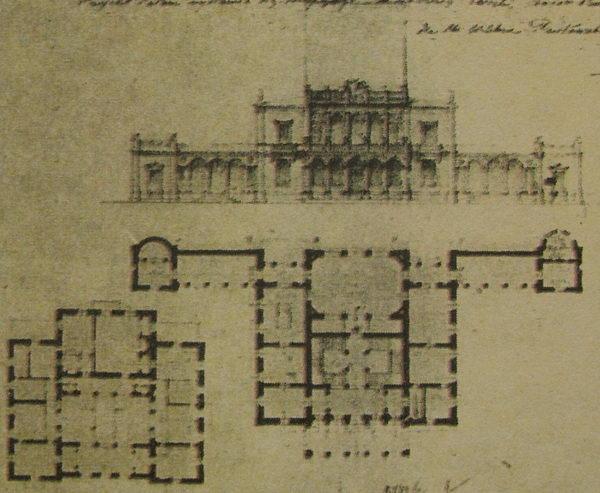 Перенесенный дворец из Волчина в Леошки.