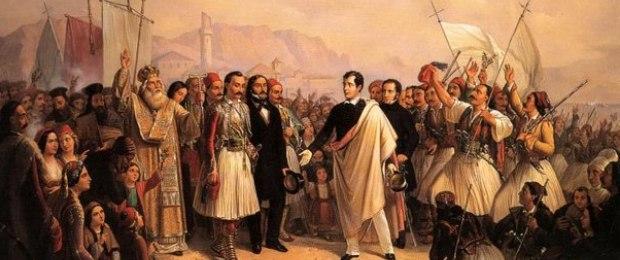 Приезд Байрона в Миссалонги. 1861 г.