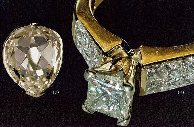 Желтый каплевидный алмаз Санси.
