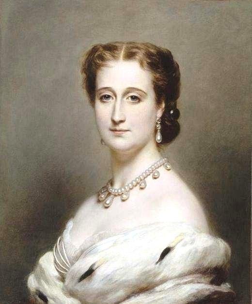 Императрица Евгения, жена Наполеона третьего.