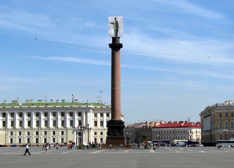 Примерно так выглядела Александровская колонна.