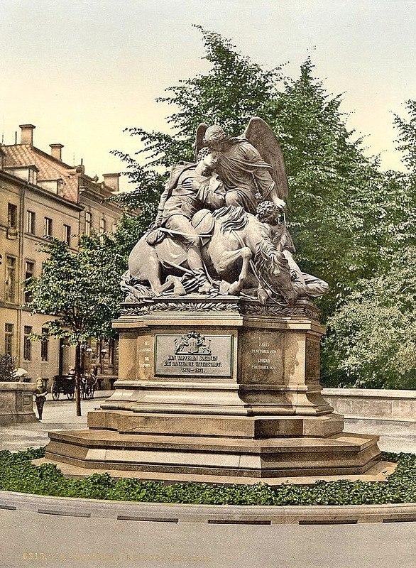 Монумент погибшим воинам, Франко-Прусская война 1870-1871 гг. Франция.