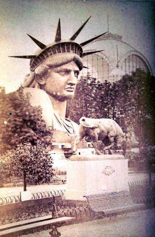 Голова Статуи Свободы на Всемирной выставке в Париже в 1878 году.