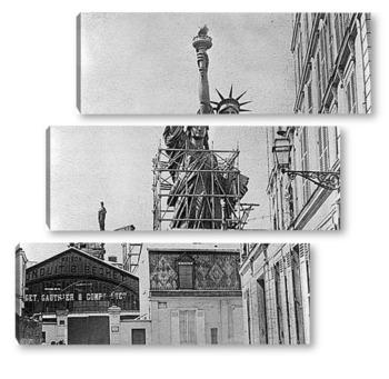 Модульная картина Статуя Свободы в Париже перед отправкой.