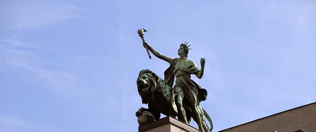 Статуя Свободы в Праге.