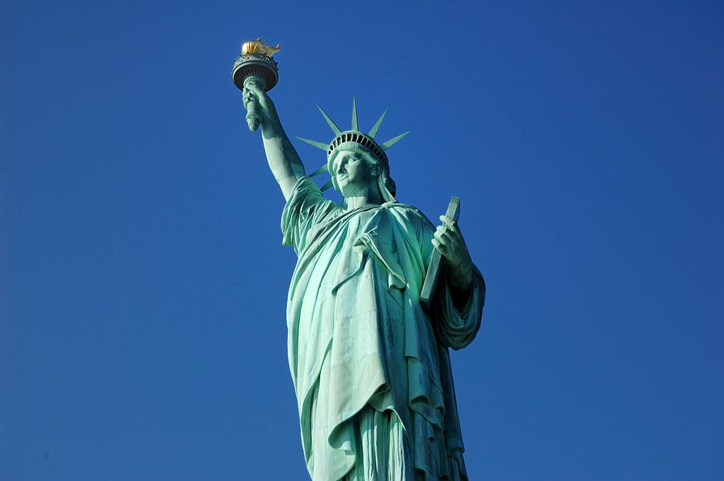 Статуя Свободы в Нью-Йорке.