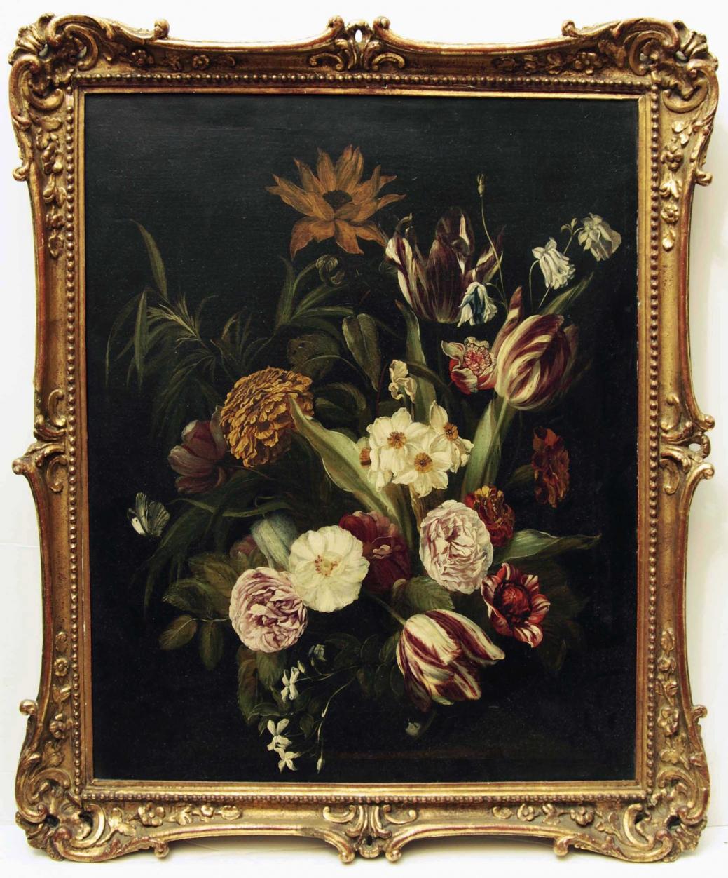 """Старинная картина: """"Голландский натюрморт"""". Западная Европа, начало 18 века."""