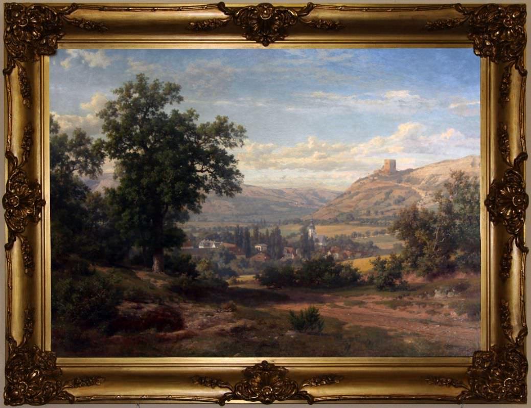 Горный пейзаж с руинами замка. Западная Европа, 1846 год.