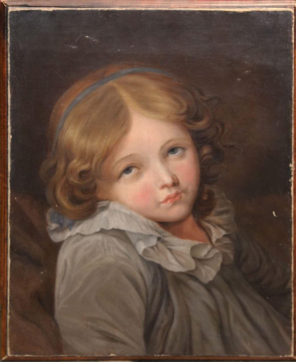 Портрет девочки. Западная Европа, первая половина 19 века.
