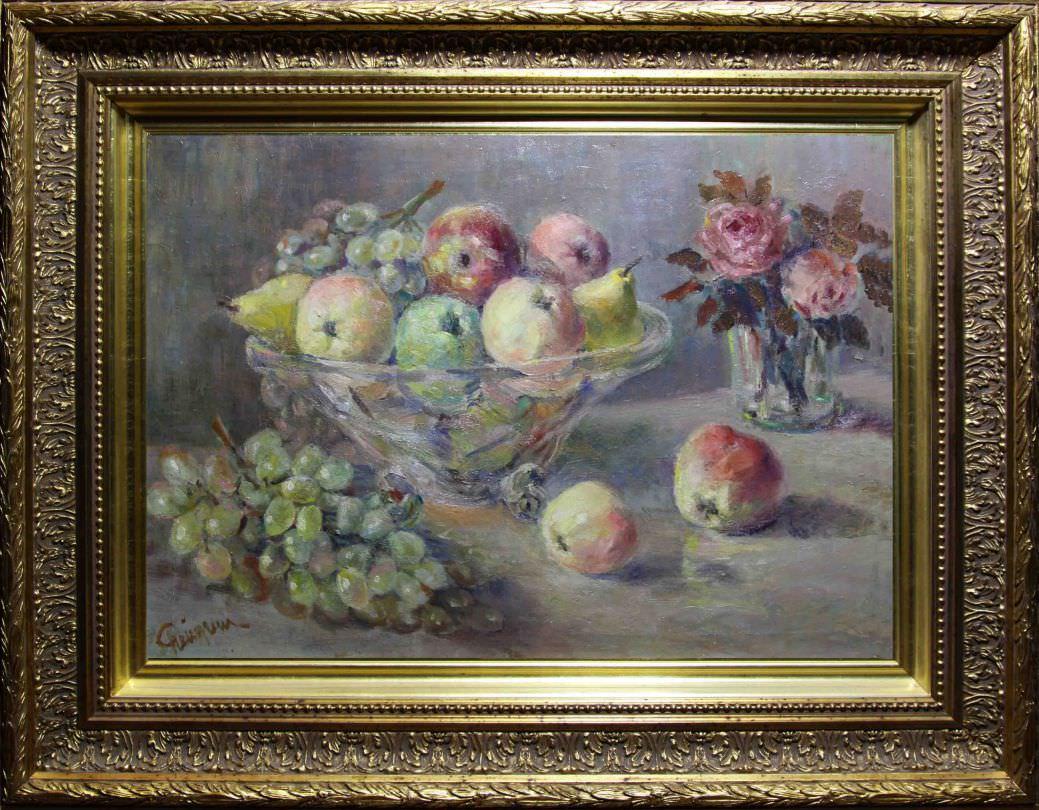 Яблоки и виноград. Западная Европа. Первая треть 20-го века.