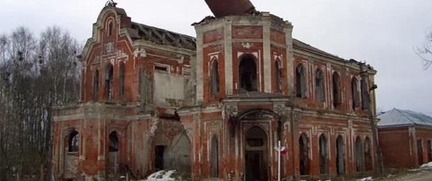 Позабытый и позаброшенный дворец князя Голицына и графа Муромцева.