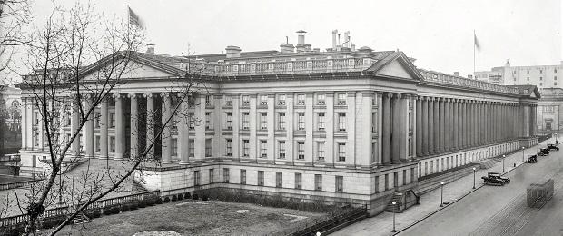 Здание Министерства Финансов США в Вашингтоне, фото 1917 года.
